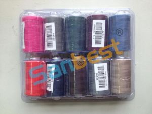 100% Spun Polyester Sewing Thread on Plastic Reels pictures & photos