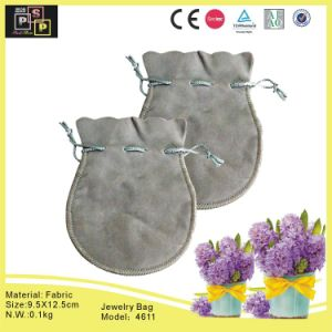 Fabric Grey Stretchable Irregular Bag with Jewelry (4611) pictures & photos