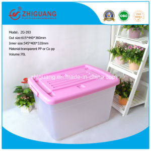Hotsale Colorful Heavy Duty Capacity Plastic Storage Box PP Material Plastic Bins with Handles and Wheels for Household Package Storage (15 Litre to 150 Litre) pictures & photos
