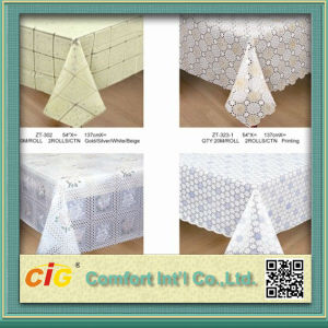 Embossed Design PVC Tablecloth Made in China pictures & photos