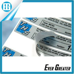Glasses on The Transparent Contact Type Logo Sticker Label pictures & photos