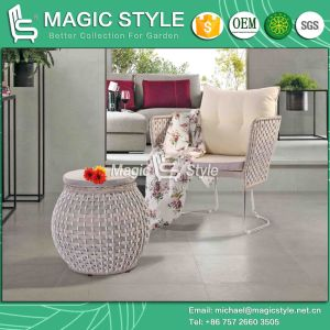 Stainless Steel Sofa Garden Leisure Sofa Patio Sofa with Cushion New Design Wicker Rattan Sofa Modern Furniture pictures & photos