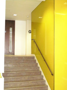 Toughened Painted Glass Wall with AS/NZS2208: 1996, BS6206, En12150 Certificate pictures & photos