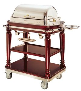 Luxury Solid Wooden Beef BBQ Cooking Cart for Restaurant (C-28) pictures & photos