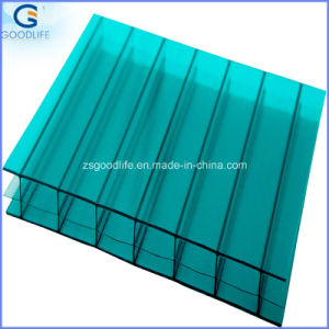 UV Plastic Triple Wall Polycarbonate Hollow Sheet pictures & photos