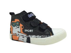 Fashion High Top Kids Canvas Shoe (J2319-B) pictures & photos