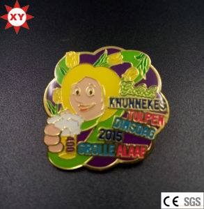 Custom Cheap Gold Metal Badges with Epoxy Coating pictures & photos