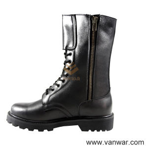 Full Leather Black Military Tactical Boots for Soliders (WTB010) pictures & photos