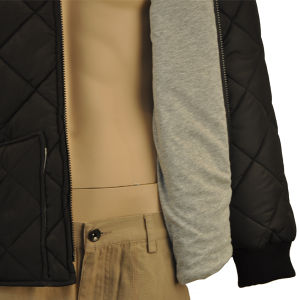 Workwear Polyester Pongee Waterproof Dimond Quilted Waterproof Work Jacket Workwear Winter Jackets pictures & photos
