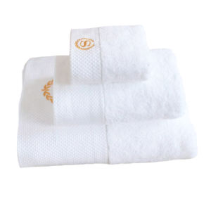 100% Cotton Hotel Cotton Face Terry Bath Towel with Embroidery Logo