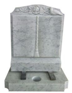 Haobo Stone White Marble Headstone for UK Market pictures & photos
