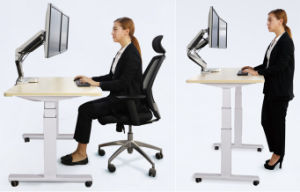 Electric Ergonomic Office Height Adjustable Desk/Lift Desk/Standing Desk (ET201) pictures & photos