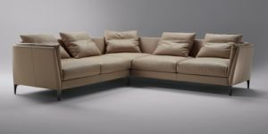 China Factory Manual Leisure Sofa with Leather (L036B) pictures & photos
