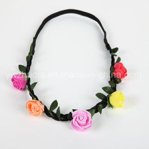 Rose Flower Garland Headband for Christmas Decoration