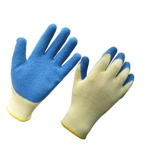 10g Polyester Crinkle Latex Coated Safety Work Gloves pictures & photos