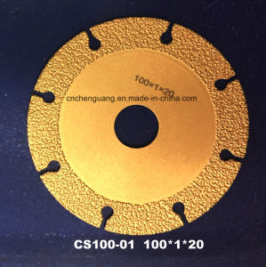 Vacuum Brazed Diamond Saw Blade for Agate Cutting Tool pictures & photos