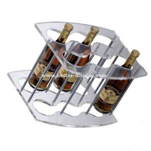 Acrylic Bottle Wine Display Shelf Btr-D2017 pictures & photos