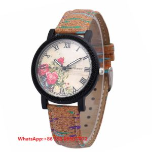 Graceful Pretty Quartz Women′s Watches with Genuine Leather Strap Fs646 pictures & photos