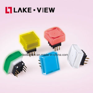 Lead Free 50mA 12VDC 15*15 Square Illuminated Tactile Switch pictures & photos