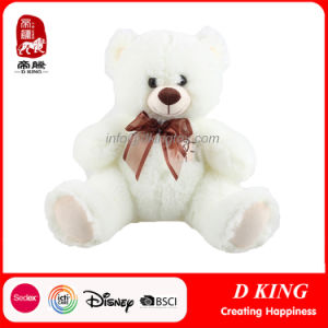 Customized Cuddly Soft Stuffed White Plush Teddy Bear pictures & photos