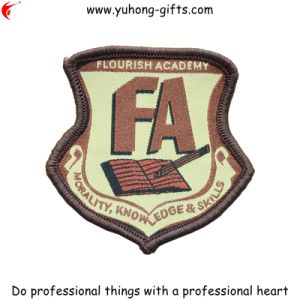 Overlock Edge Irregular Shaped School Patch for Garment (YH-EB038) pictures & photos