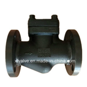Forged Carbon Steel A105 Flange Connection End Lift Check Valve