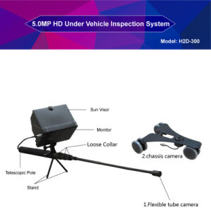 2017 New Portable Handheld Under Vehicle Inspection Camera System Uvss Uvis H2d-300 pictures & photos