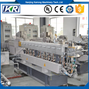 China Manufacturer Bio Decomposing Conical Plastic Twin Screw Extruder Pelletizing Granulator Machinery pictures & photos