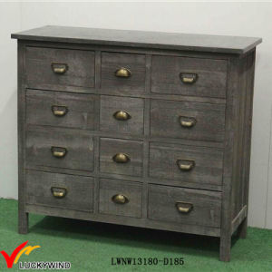 Wooden Antique Style Colored Drawers Storage Cabinet pictures & photos