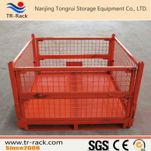 Easy Stackable Heavy Duty Steel Mesh Cage/Container pictures & photos