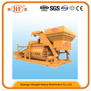 Js Horizontal Shafts Electric Portable Cement Concrete Mixer for 75m3/H pictures & photos