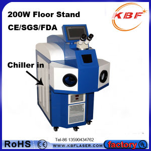 200W Jewelry Laser Spot Welding Machine for Metal with Chiller pictures & photos