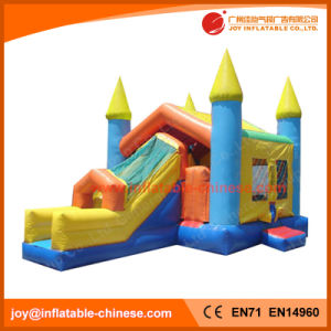 Inflatable Funny Moonwalk Toy/ Jumping Castle Combo with Slide (T3-201) pictures & photos
