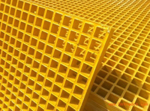 High Dencity Fiberglass Reinforced Plastic Moulded Grating for Gtitted Surface pictures & photos