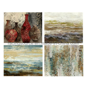 Abstract Streched Hand-Painted Oil Canvas Painting for Wall Decor pictures & photos