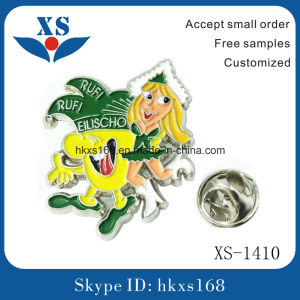 Soft Enamel Metal Alloy Badge with Butterfly Clasp pictures & photos