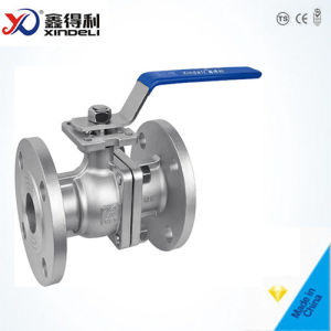 JIS 10k Stainless Steel Ss304 Flanged Floating Manual Ball Valve pictures & photos