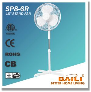 "Good Quality 16"" Oscillating Stand Fan with Cross Base pictures & photos"