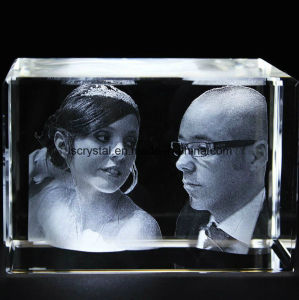 3D Laser Engraving Blank Crystal Glass Block Cube for Souvenir pictures & photos