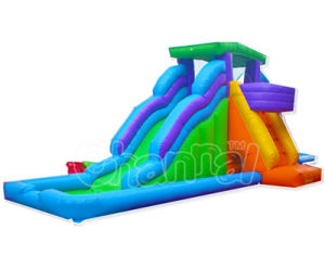 Outdoor Good Quality Inflatable Water Double Slide for Kids (CHSL272-1) pictures & photos