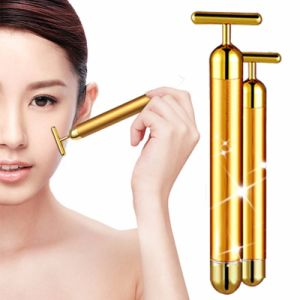 Best Face Slimming 24k Gold Electric Beauty Facial Massage Bar pictures & photos