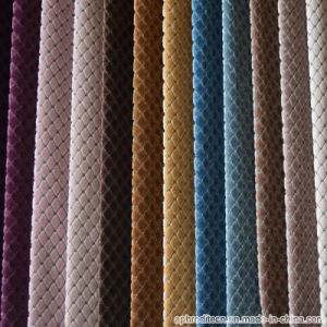 Woven Polyester Fabric with Gird Pattern pictures & photos