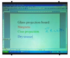 Interactive Dry Wipe Magnetic Glass Projection Board with SGS, En71/72/73 pictures & photos