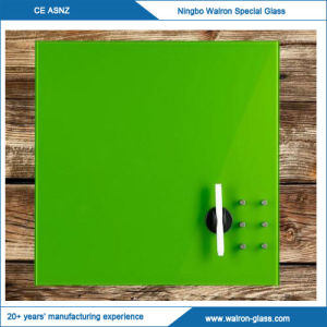 Clear Glass White Board with Green Wall Backing Glass Whiteboards