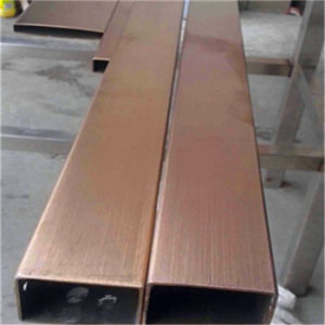 Rose Gold Color Tube Stainless Steel 304 Tube for Interior Decoration Projects pictures & photos
