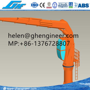 5 Ton 20m Outreach Remote Control Folding Boom Pedestal Crane pictures & photos