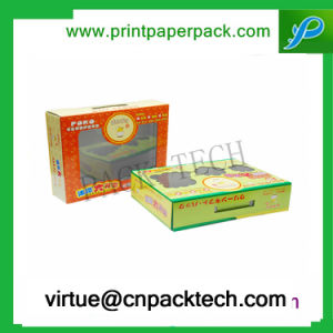 Custom Logo Printing Beauty Packaging Cosmetic Paper Gift Box with Plastic pictures & photos