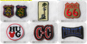 2015 New Felt Fabric Base Embroidery Patch Embroidery Badges Embroidery Sign-Garment Label pictures & photos