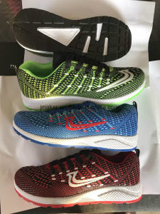 High Quality New Design Low Price Flyknit Man Confort Sports Shoes pictures & photos