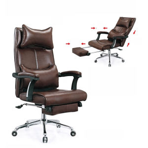 Brown Color Foot Extention Salon Beauty Chair (NS-6C019) pictures & photos
